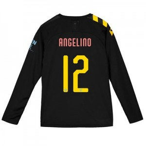 Manchester City Cup Away Shirt 2019-20 - Long Sleeve - Kids with Angelino 12 printing