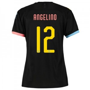 Manchester City Cup Away Shirt 2019-20 - Womens with Angelino 12 printing