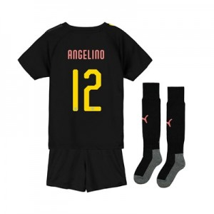 Manchester City Cup Away Mini Kit 2019-20 with Angelino 12 printing
