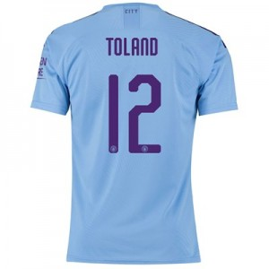 Manchester City Cup Authentic Home Shirt 2019-20 with Toland 12 printing