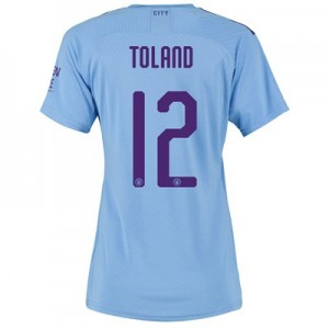 Manchester City Cup Authentic Home Shirt 2019-20 - Womens with Toland 12 printing