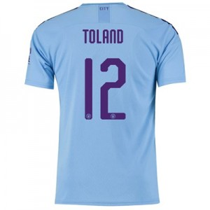 Manchester City Cup Home Shirt 2019-20 with Toland 12 printing