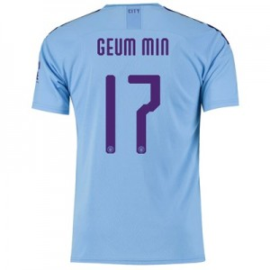 Manchester City Cup Home Shirt 2019-20 with Geum Min 17 printing