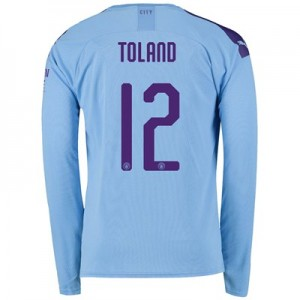 Manchester City Cup Home Shirt 2019-20 - Long Sleeve with Toland 12 printing