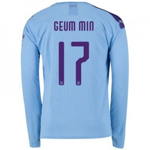 Manchester City Cup Home Shirt 2019-20 - Long Sleeve with Geum Min 17 printing