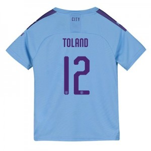 Manchester City Cup Home Shirt 2019-20 - Kids with Toland 12 printing