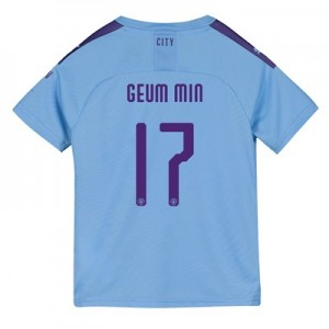 Manchester City Cup Home Shirt 2019-20 - Kids with Geum Min 17 printing