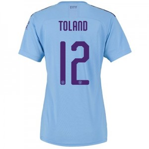 Manchester City Cup Home Shirt 2019-20 - Womens with Toland 12 printing