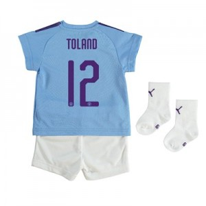 Manchester City Cup Home Baby Kit 2019-20 with Toland 12 printing
