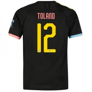 Manchester City Cup Authentic Away Shirt 2019-20 with Toland 12 printing