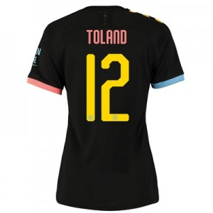 Manchester City Cup Authentic Away Shirt 2019-20 - Womens with Toland 12 printing