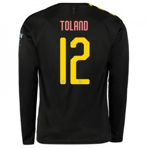 Manchester City Cup Away Shirt 2019-20 - Long Sleeve with Toland 12 printing