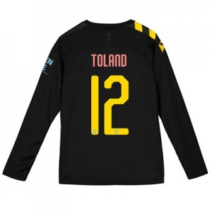 Manchester City Cup Away Shirt 2019-20 - Long Sleeve - Kids with Toland 12 printing