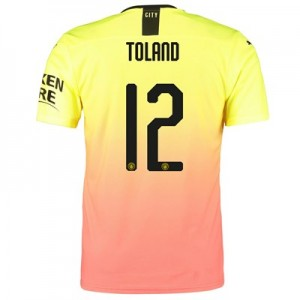 Manchester City Cup Authentic Third Shirt 2019-20 with Toland 12 printing