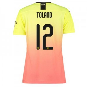 Manchester City Cup Authentic Third Shirt 2019-20 - Womens with Toland 12 printing