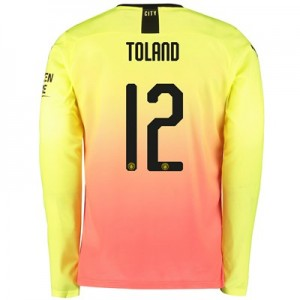 Manchester City Cup Third Shirt 2019-20 - Long Sleeve with Toland 12 printing