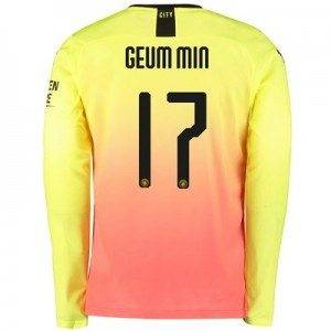 Manchester City Cup Third Shirt 2019-20 - Long Sleeve with Geum Min 17 printing