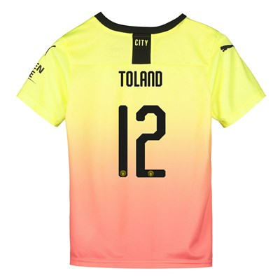 Manchester City Cup Third Shirt 2019-20 - Kids with Toland 12 printing