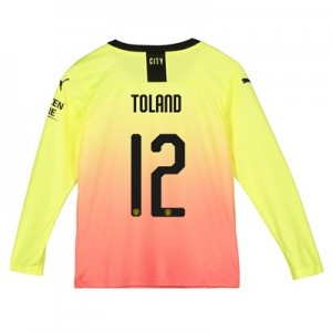 Manchester City Cup Third Shirt 2019-20 - Long Sleeve - Kids with Toland 12 printing