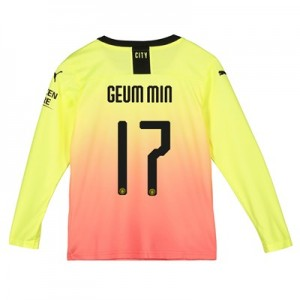 Manchester City Cup Third Shirt 2019-20 - Long Sleeve - Kids with Geum Min 17 printing