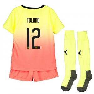 Manchester City Cup Third Mini Kit 2019-20 with Toland 12 printing