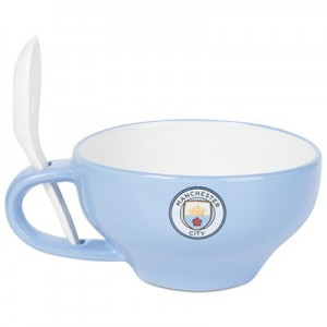 Manchester City Breakfast Bowl and Spoon