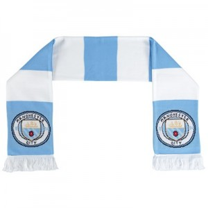 Manchester City Scarf - Sky/White
