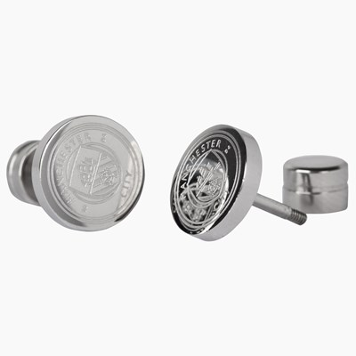 Manchester City Crest Stud Earring - Stainless Steel - Pair