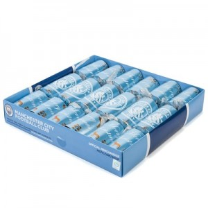 Manchester City Christmas Crackers - 6 Pack