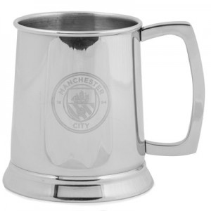 Manchester City Stainless Steel Glass Based Tankard