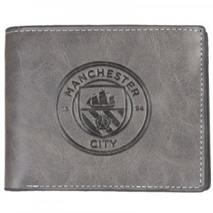 Manchester City Embossed Suede Feel Wallet