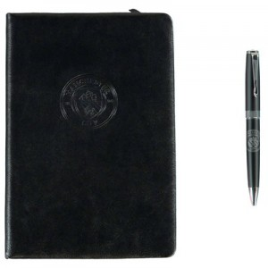 Manchester City A5 Notebook and Pen Set