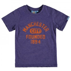 Manchester City Founded T-Shirt - Purple - Junior