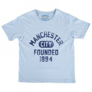 Manchester City Founded T-Shirt - Sky Marl - Junior