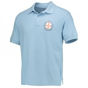 Manchester City Melbourne City  Polo Shirt - Sky