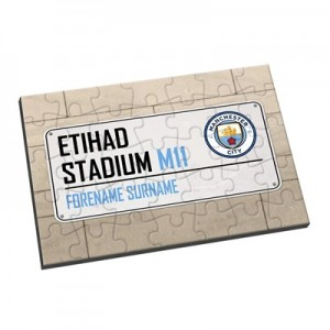 Manchester City Personalised Street Sign Jigsaw