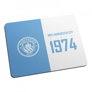 Manchester City Personalised 100 percent Mouse Mat