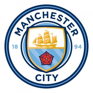 Manchester City Crest Wall Sticker - 60 x 60cm