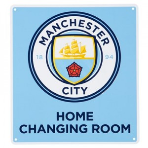 Manchester City Home Changing Room Sign - 22.5 x 25cm