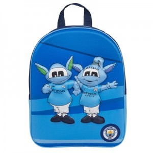 Manchester City Mascot Hard Shell Backpack - Junior