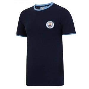 Manchester City Classic Pique T-Shirt - Navy