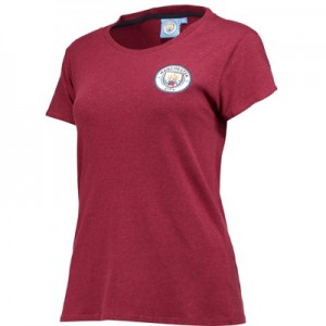 Manchester City Classics T-Shirt - Maroon Marl - Womens