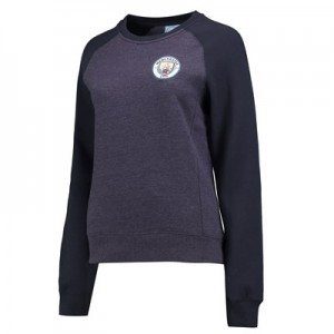 Manchester City Classics Sweater - Mid Blue Marl - Womens