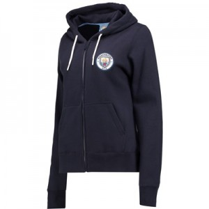 Manchester City Classics Full Zip Hoodie - Navy - Womens