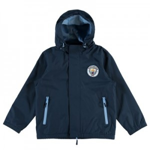 Manchester City Core Shower Jacket - Navy (2-13yrs)