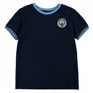 Manchester City Classic Pique T-Shirt - Navy (6-13yrs)