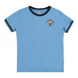 Manchester City Classic Pique T-Shirt - Sky (2-13yrs)