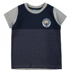 Manchester City Classic Block T-Shirt - Mid Blue Marl (2-13yrs)