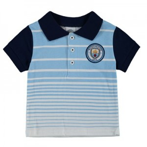 Manchester City Crest Gradient Polo - Sky/Navy - Baby