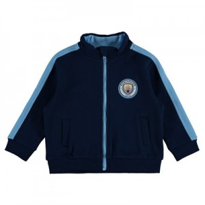 Manchester City Crest Track Top - Navy - Baby